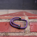 st8te Handmade (Grape) Purple Rope Bracelet | Adjustable Rope Slider