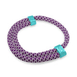 st8te Handmade (Grape) Purple and Teal Rope Bracelet | Adjustable Rope Slider