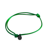 st8te Handmade Green and Black Rope Bracelet with Charm | Adjustable Rope Slider