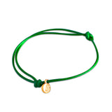 st8te Handmade Green and Gold Rope Bracelet with Charm | Adjustable Rope Slider