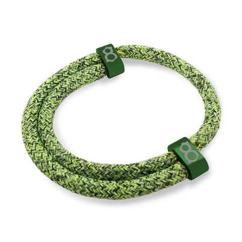 st8te Handmade Green Rope Bracelet | Adjustable Rope Flyknit Slider