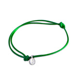 st8te Handmade Green Rope Bracelet with Charm | Adjustable Rope Slider