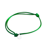st8te Handmade Green and White Rope Bracelet with Charm | Adjustable Rope Slider