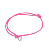 st8te Handmade Hot Pink Bracelet with Charm | Adjustable Rope Slider