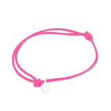 st8te Handmade Hot Pink Bracelet with White Charm | Adjustable Rope Slider
