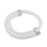 "st8te Handmade ""Ice"" White Rope Bracelet 