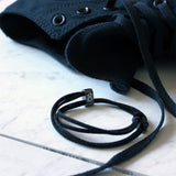 "st8te Handmade ""Jet"" Black Leather Bracelet 