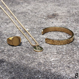 St8te- 3mm Stainless Steel Gold Necklace with St8te Logo Pendant