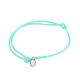 st8te Handmade Teal Rope Bracelet with Charm | Adjustable Slim Slider
