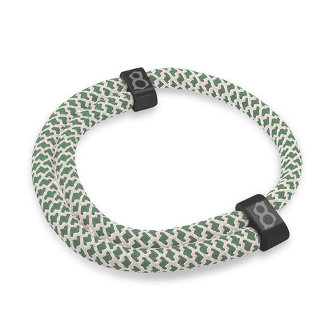 "st8te Handmade ""Moss"" Green Rope Bracelet 