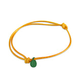 st8te Handmade Orange Bracelet with Charm | Adjustable Rope Slider