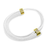 "st8te Handmade ""Pure"" White Leather Bracelet, Adjustable Slider"