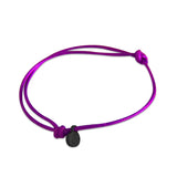 st8te Handmade Purple Bracelet with Charm | Adjustable Slim Slider