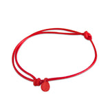 st8te Handmade Red Rope Bracelet with Charm | Adjustable Slim Slider