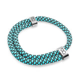 "st8te Handmade ""Robin"" Blue & Black Rope Bracelet, Adjustable Slider"