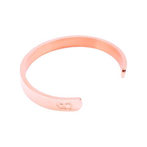 Rose Gold Logo Cuff