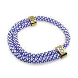 "st8te Handmade ""Royal"" Blue & White Rope Bracelet, Adjustable Slider"
