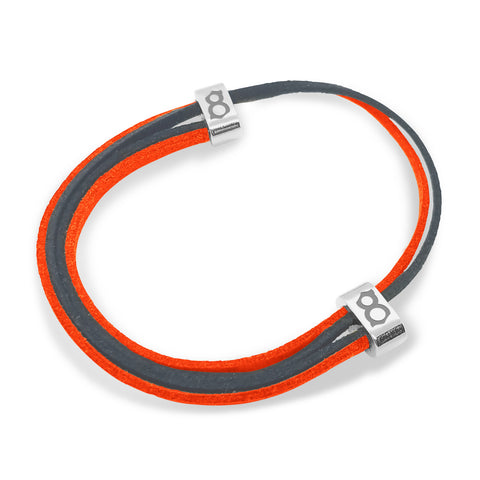 Slate Orange Leather Bracelet