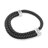 "st8te Handmade ""Slate"" Gray & Black Rope Bracelet, Adjustable Slider"