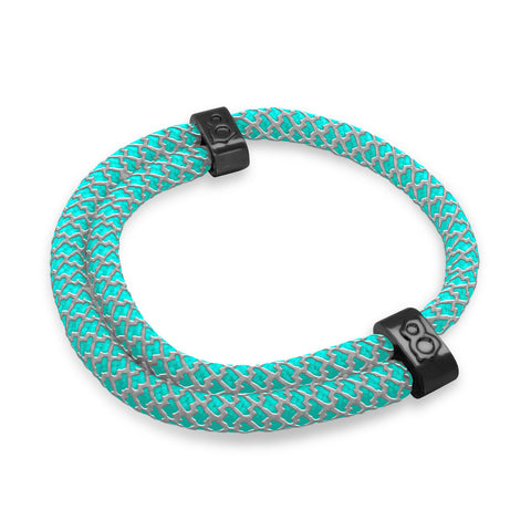 Teal Reflect Rope Bracelet