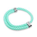 "st8te Handmade ""Tiffany"" Turquoise Rope Bracelet, Adjustable Slider"