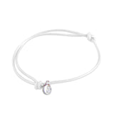 st8te Handmade White Rope Bracelet with Charm | Adjustable Slim Slider