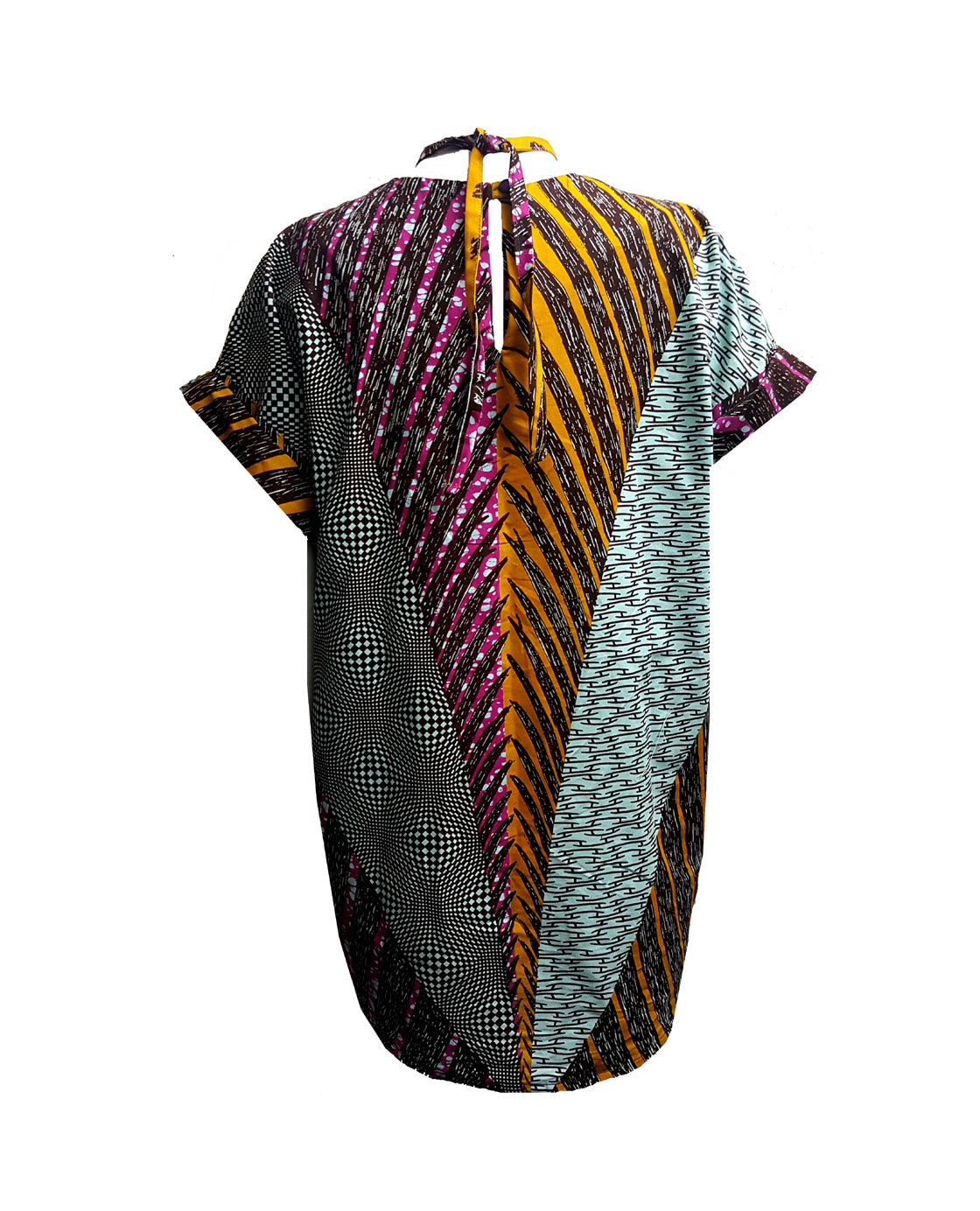 NEW Osei Kaleidoscope Tie Waist Top