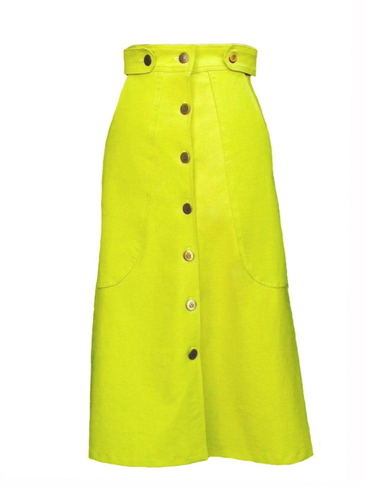 Asantewaa Acid Green Skirt