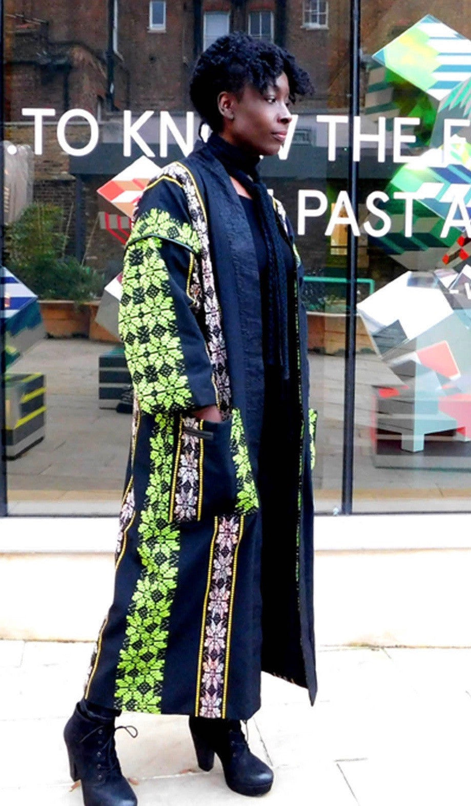SAMPLE SALE - Flower Power Kente Weave Coat