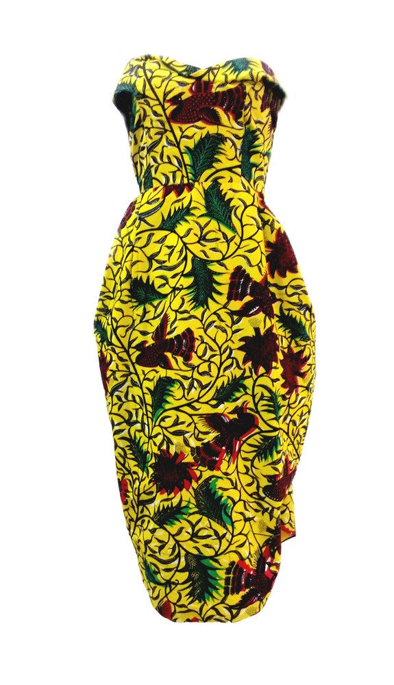 Yellow  Print Taila Dress
