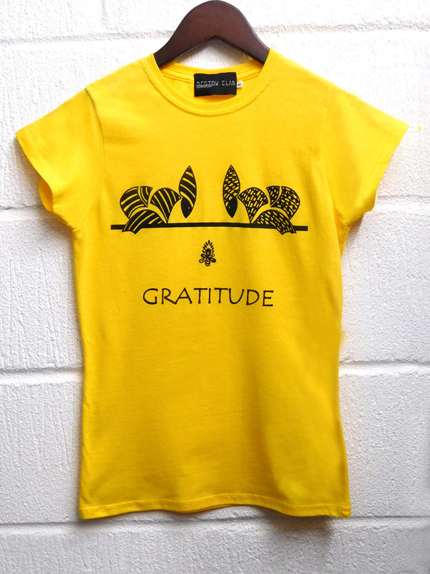 Bowing Ladies T-Shirt (Yellow)