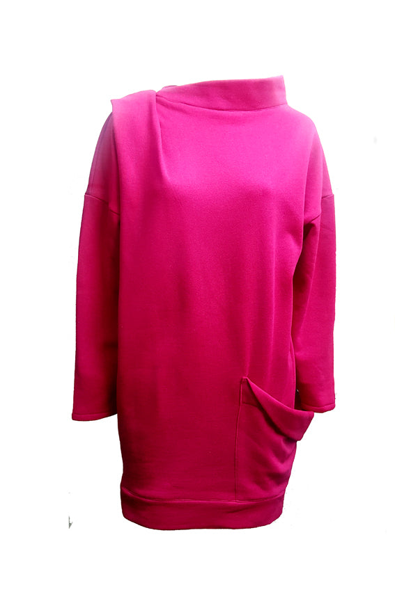 Fuschia Bea Sweatshirt Dress