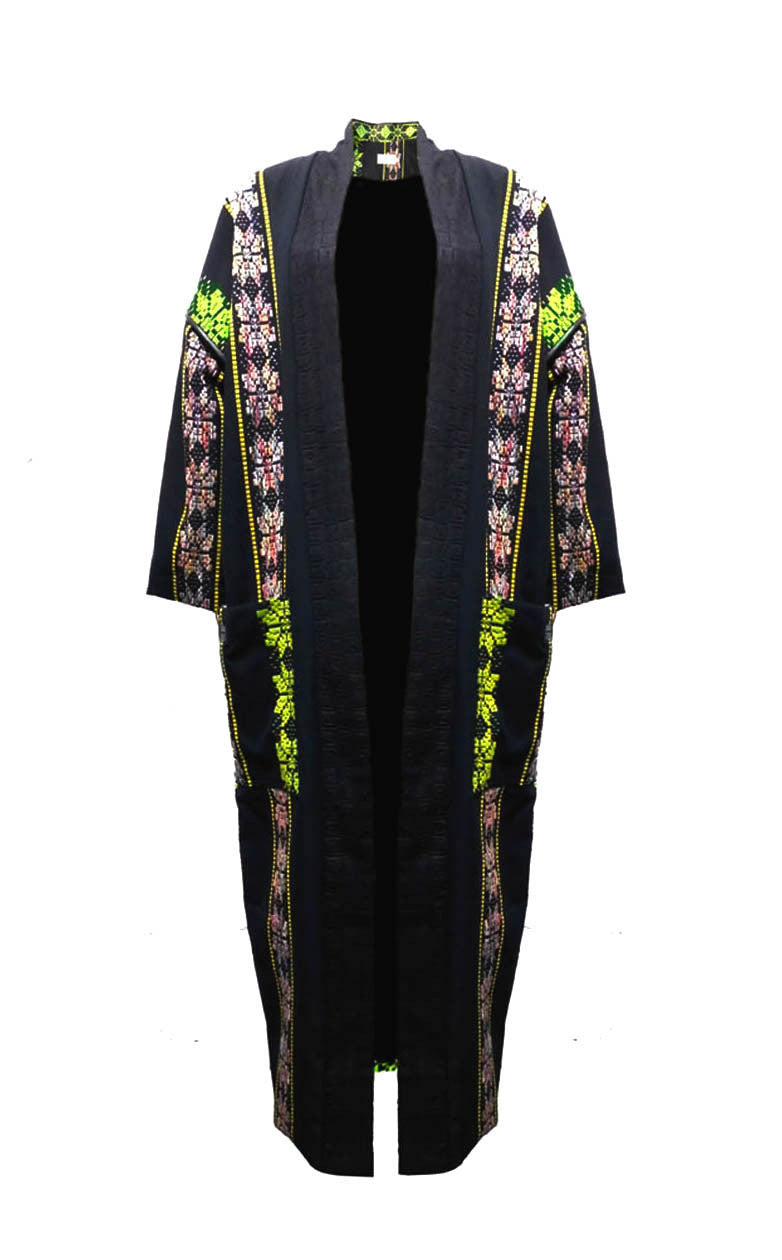 Flower Power Kente Weave Coat