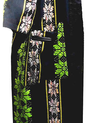 Sleeveless Flower Power Kente Weave Coat