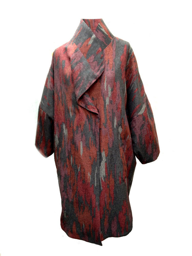 Zumi Wool Camouflage Coat