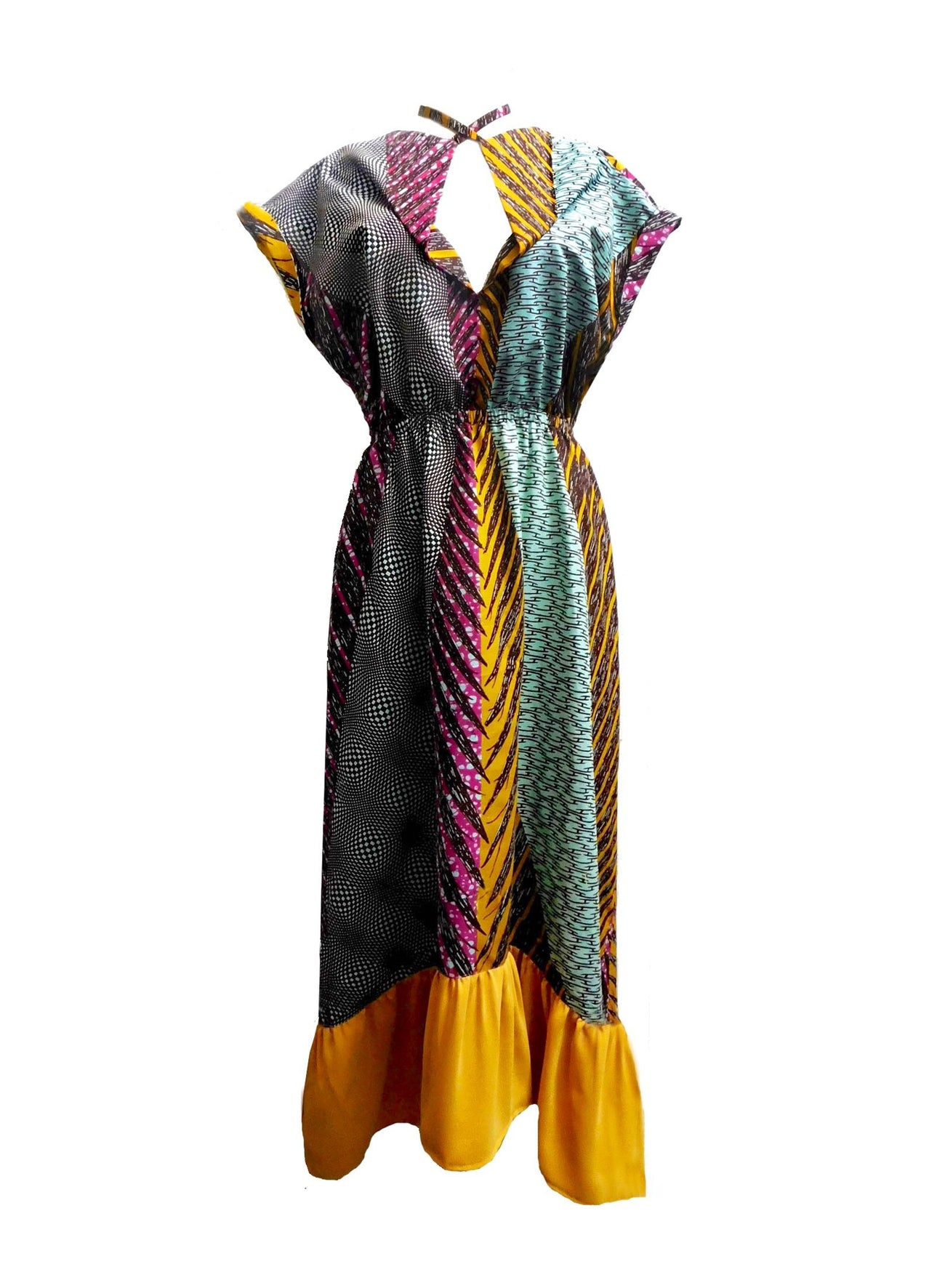 NEW Osei Kaleidoscope Waterfall Dress