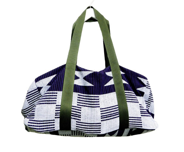 Purple Background Luxury Kente Bag
