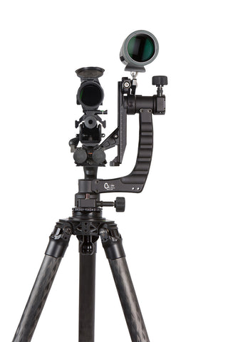 PMG-K02 Kit: Adjustable Rifle Support/Rest and 42mm Tripod Kit with Leveling base, Clamp and scope mount