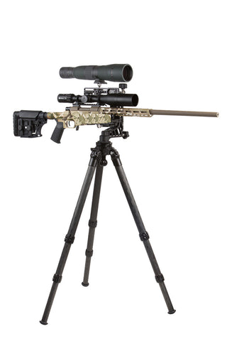 PMG-K03 Kit: Adjustable Rifle Support/Rest and 34mm Tripod Kit with Leveling base and scope mount