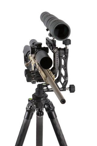 PMG-K04 Kit: Adjustable Rifle Support/Rest and 34mm Tripod Kit with Leveling base, Clamp and scope mount