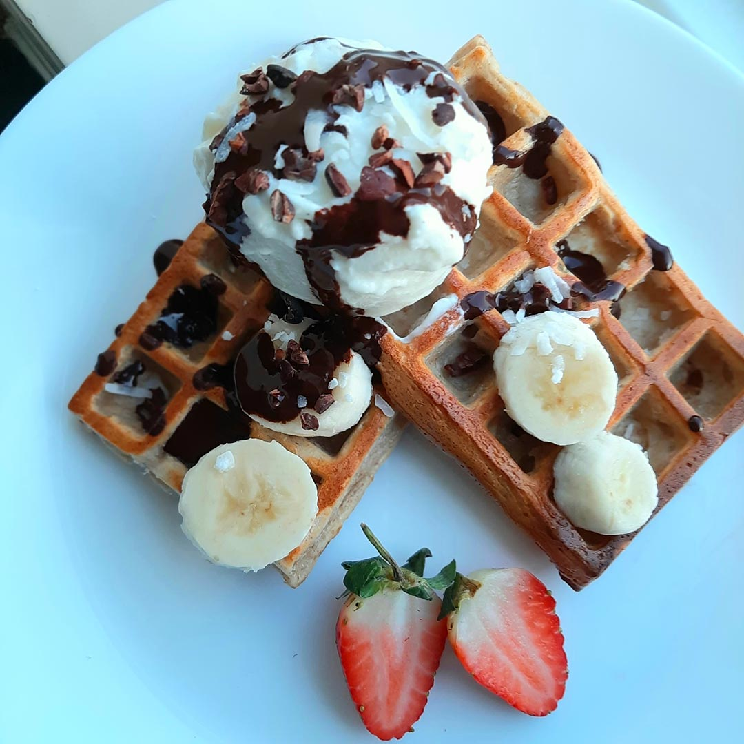 "25G ORGANIC PROTEIN ""BANOFFEE"" WAFFLES"