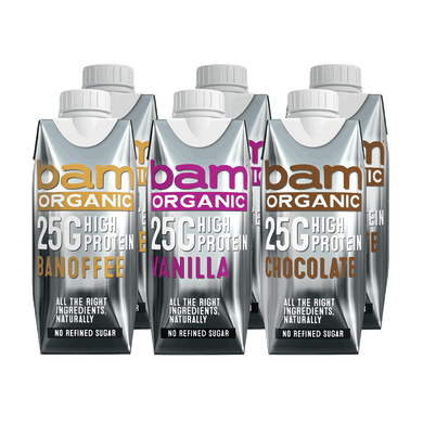 Organic High 25G Protein Mixed Shakes - 6 X 330ml (SIX PACK)