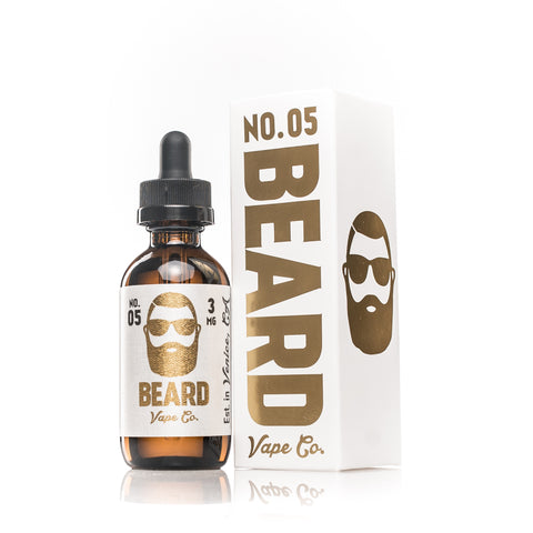 Beard Vape Co NO. 05, bottle and box shown