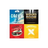 logos for Cream Vapor, Boardroom, 485 Red E-Liquid, longboard vapor
