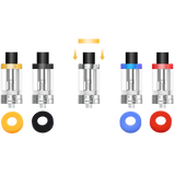 aspire cleito tanks range, yellow, black, clear, blue, red