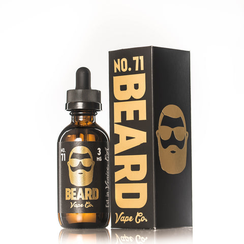 Beard Vape Co NO. 71 bottle featured with box
