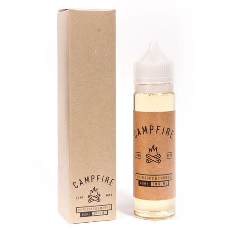 Campfire bottle pictured with box