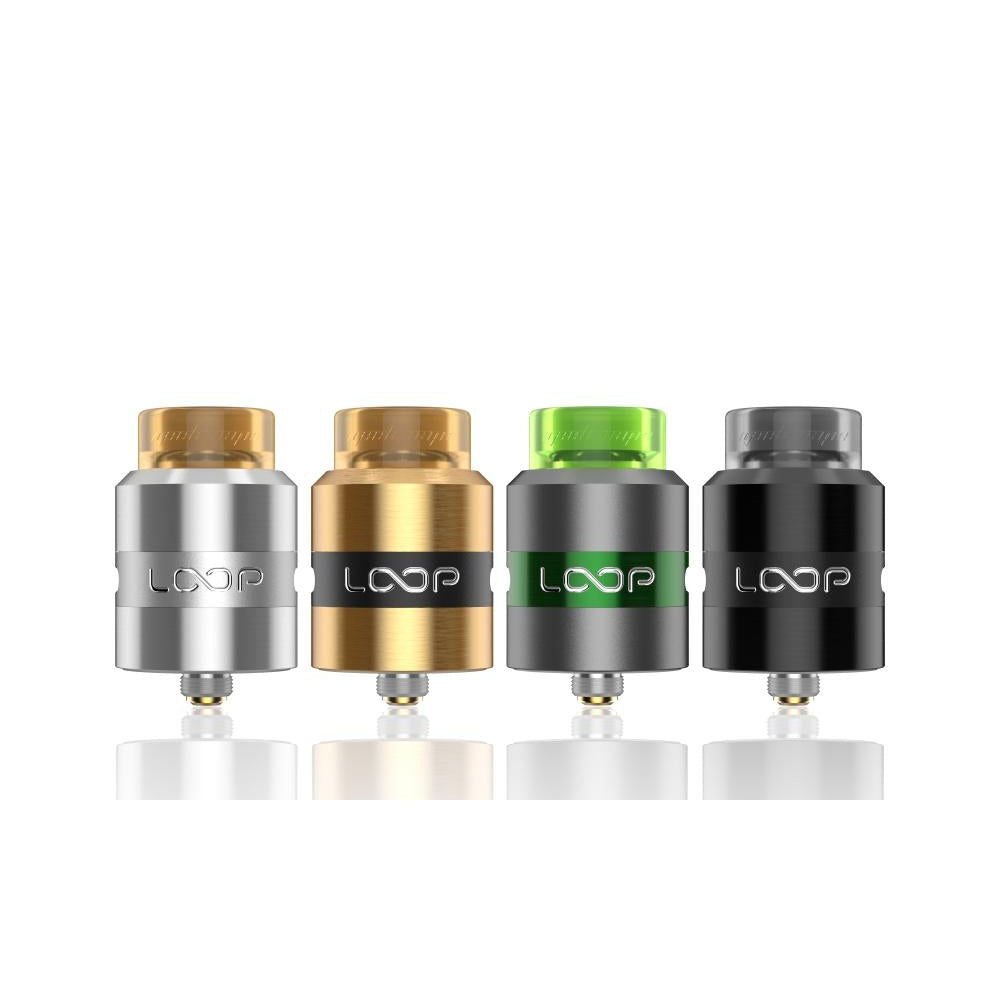 GeekVape Loop RDA, 4 in a row, silver, gold, green and black
