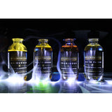 Boardroom all four flavours, black background with smoke rolling off of bottles
