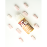 NIMBUS E Liquid bottle pictured with red chews surrounding it
